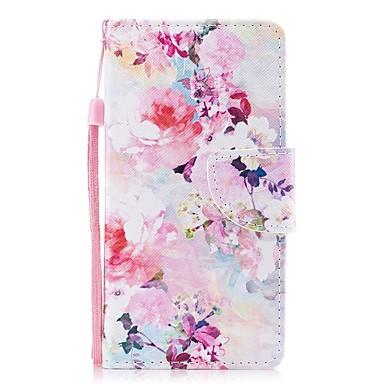 غطاء من أجل Apple iPhone 8 / iPhone 7 محفظة / حامل البطاقات / قلب غطاء كامل للجسم زهور قاسي جلد PU