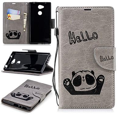 voordelige Hoesjes / covers voor Sony-hoesje Voor Sony Xperia XA2 / Xperia L2 Portemonnee / Kaarthouder / met standaard Achterkant Panda Hard TPU