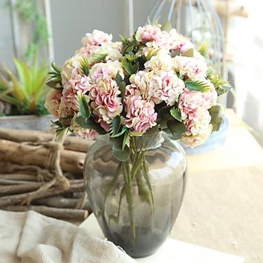 زهور اصطناعية 1 فرع كلاسيكي Wedding Flowers النمط الرعوي أقحوان أزهار الطاولة