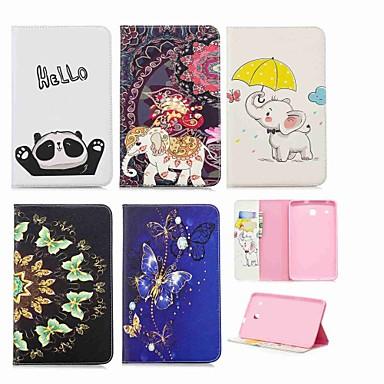 رخيصةأون حالة سامسونج اللوحي-غطاء من أجل Samsung Galaxy Tab E 8.0 محفظة / حامل البطاقات / مع حامل غطاء كامل للجسم فيل قاسي جلد PU