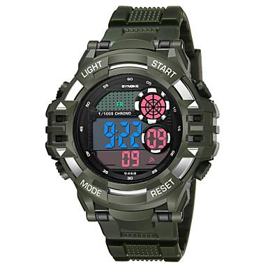 SYNOKE رجالي ساعة رياضية ساعة رقمية رقمي جلد اصطناعي أسود / الأبيض / أزرق داكن 50 m مقاوم للماء رزنامه الكرونوغراف رقمي موضة - أسود أزرق داكن أخضر غامق / قضية