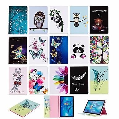 غطاء من أجل Huawei Huawei MediaPad M5 10 (Pro) / Huawei MediaPad M5 10 / Huawei MediaPad M5 8 محفظة / مع حامل / قلب غطاء كامل للجسم حيوان قاسي جلد PU
