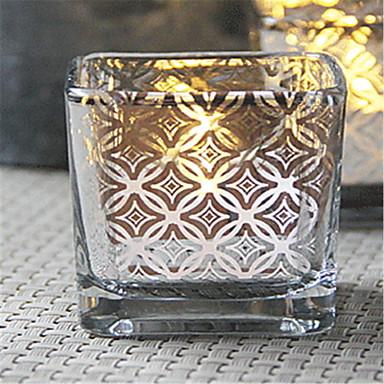 Modernt Modernt Glas Ljushållare Kandelaber 1st, Ljus / ljushållare