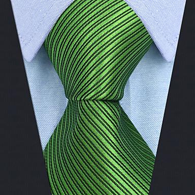 ربطة العنق لون سادة / مخطط / خملة الجاكوارد رجالي حفلة / عمل