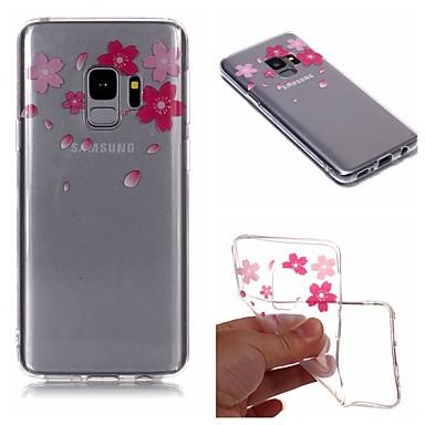 غطاء من أجل Samsung Galaxy S9 / S9 Plus / S8 Plus IMD / شفاف / نموذج غطاء خلفي زهور ناعم TPU