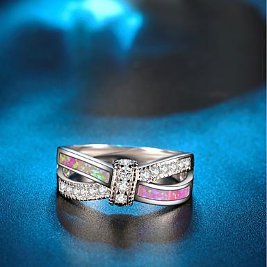 Dame Statement Ring Løftering Opal Kubisk Zirkonium 1pc Sølv Kobber Gullbelagt Sirkelformet damer Kunstnerisk Bohemsk Bryllup Klubb Smykker Tau Smuk