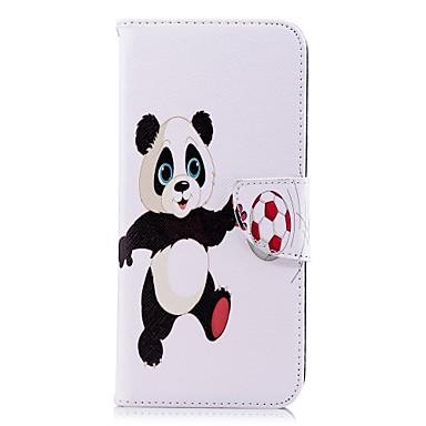 voordelige Galaxy S-serie hoesjes / covers-hoesje Voor Samsung Galaxy S9 / S9 Plus / S8 Plus Portemonnee / Kaarthouder / met standaard Volledig hoesje Panda Hard PU-nahka
