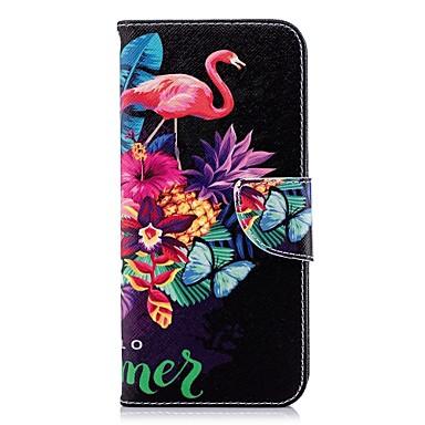 غطاء من أجل Samsung Galaxy S9 / S9 Plus / S8 Plus محفظة / حامل البطاقات / مع حامل غطاء كامل للجسم البشروس طائر مائي قاسي جلد PU
