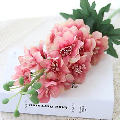 زهور اصطناعية 1 فرع كلاسيكي الحديث المعاصر الدافينيومات أزهار الطاولة