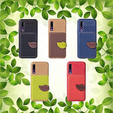 غطاء من أجل Huawei Huawei P20 / Huawei P20 lite / Mate 10 lite نحيف جداً غطاء خلفي لون سادة ناعم TPU