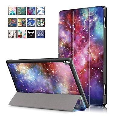 Недорогие Чехлы и кейсы для Lenovo-Кейс для Назначение Lenovo Lenovo Tab 4 10 Plus / Lenovo Tab 4 10 со стендом / Магнитный Чехол Масляный рисунок Твердый Кожа PU