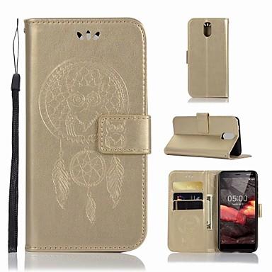 غطاء من أجل نوكيا Nokia 3.1 محفظة / حامل البطاقات / مع حامل غطاء كامل للجسم بوم قاسي جلد PU