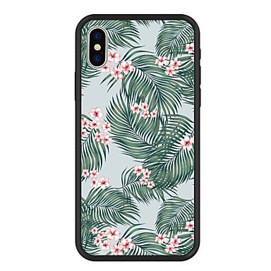 غطاء من أجل Apple iPhone X / iPhone 8 Plus / iPhone 8 نموذج غطاء خلفي النباتات / شجرة / زهور قاسي أكريليك