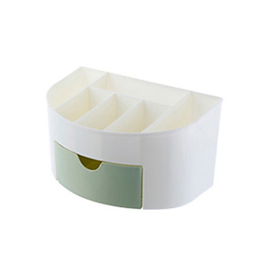 PVC بيضوي إبداعي الصفحة الرئيسية منظمة, 1PC تخزين الماكياج