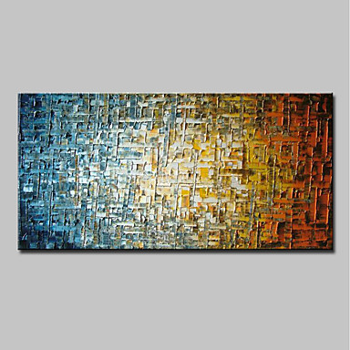 tanie Wall Art-Hang-Malowane obraz olejny Ręcznie malowane - Abstrakcja Nowoczesny Zwinięte płótna / Zwijane płótno