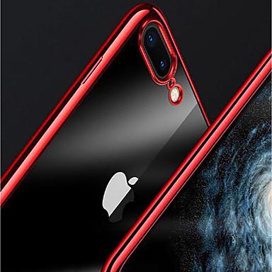 voordelige iPhone-hoesjes-hoesje Voor Apple iPhone X / iPhone 8 Plus / iPhone 8 Beplating / Transparant Achterkant Effen Zacht TPU