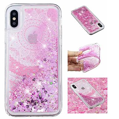 voordelige iPhone 6 hoesjes-hoesje Voor Apple iPhone X / iPhone 8 Plus / iPhone 8 Stromende vloeistof / Patroon / Glitterglans Achterkant Mandala / Glitterglans / Bloem Zacht TPU