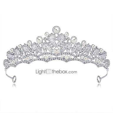 ieftine Bijuterii de Păr-Pentru femei Tiare Pentru Nuntă Petrecere Homecoming Royalty Ștrasuri Zirconiu Cubic Ștras Argilă Aliaj Argintiu