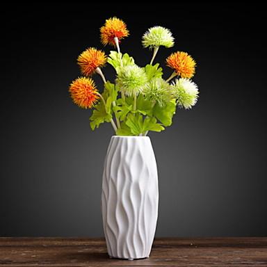زهور اصطناعية 1 فرع كلاسيكي أوروبي نباتات أزهار الطاولة