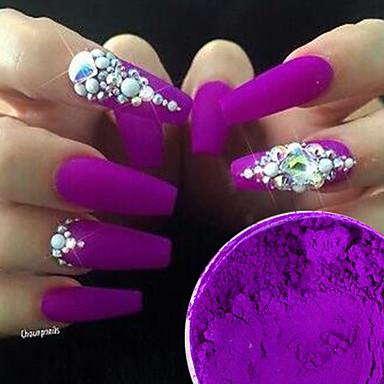 2 Pcs Nail Glitter Retro Nail Art Tips Fashionable Design Wedding