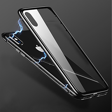 Недорогие Кейсы для iPhone 6 Plus-Кейс для Назначение Apple iPhone X / iPhone 8 Pluss / iPhone 8 Прозрачный Кейс на заднюю панель Однотонный Твердый Металл