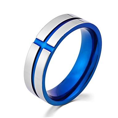 olcso Gyűrűk-Férfi Gyűrű 1db Arany Kék Ötvözet Circle Shape Divat Parti Ékszerek Retro Menő