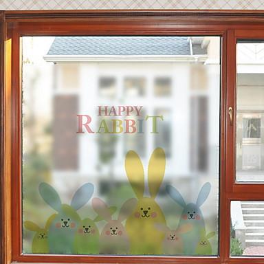 فيلم نافذة وملصقات زخرفة العادي شخصية PVC بديع