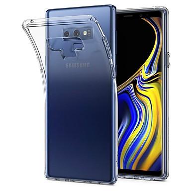 voordelige Galaxy Note 5 Hoesjes / covers-hoesje Voor Samsung Galaxy Note 9 / Note 8 / Note 5 Ultradun / Transparant Achterkant Effen Zacht TPU