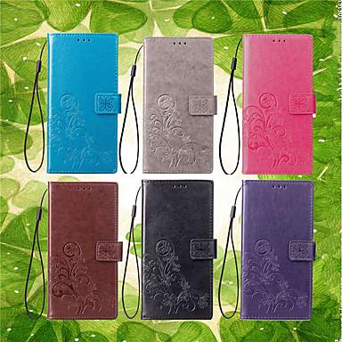 Недорогие Чехлы и кейсы для Sony-Кейс для Назначение Sony Xperia XZ2 / Xperia XA2 / Xperia L2 Кошелек / Бумажник для карт / со стендом Чехол Мандала / Бабочка Твердый Кожа PU