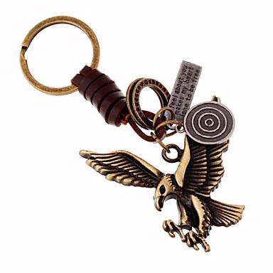 رخيصةأون سلاسل المفاتيح-سلسلة المفاتيح Alphabet Shape كلاسيكي خواتم مجوهرات بني من أجل شارع نادي