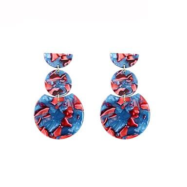 رخيصةأون أقراط-نسائي أقراط قطرة ستايل هندسي الأقراط مجوهرات أزرق من أجل هدية مناسب للبس اليومي 1 زوج