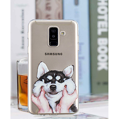 voordelige Galaxy A-serie hoesjes / covers-hoesje Voor Samsung Galaxy A6 (2018) / A6+ (2018) / A3 (2017) Transparant / Patroon Achterkant Hond Zacht TPU