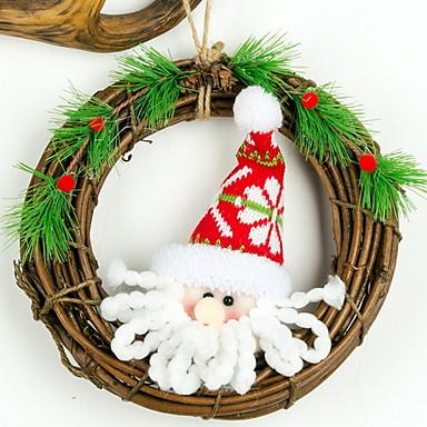 عيد الميلاد الحلي عطلة خشبي دائري حداثة زينة عيد الميلاد