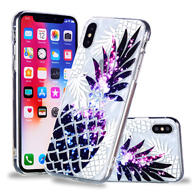 voordelige iPhone 6 Plus hoesjes-hoesje Voor Apple iPhone X / iPhone 8 Plus / iPhone 8 Patroon Achterkant Voedsel / Fruit Zacht TPU