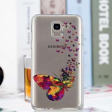 رخيصةأون حافظات / جرابات هواتف جالكسي J-غطاء من أجل Samsung Galaxy J7 (2017) / J6 / J5 (2017) شفاف / نموذج غطاء خلفي فراشة ناعم TPU