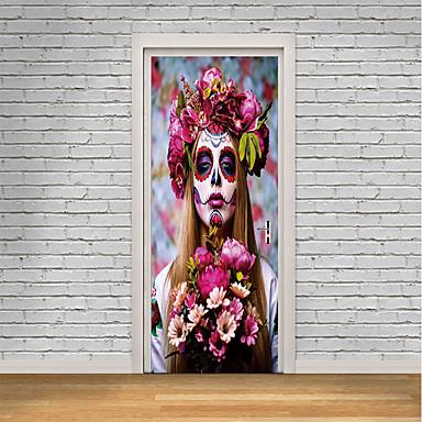 ملصقات الباب - لواصق / الناس ملصقات الحائط Halloween / الأزهار / النباتية غرفة الجلوس / غرفة النوم