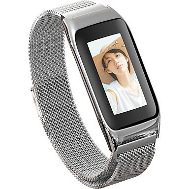 JSBP B42 نسائي سوار الذكية Android iOS بلوتوث ضد الماء شاشة لمس رصد معدل ضربات القلب أصفر فاتح رمادي داكن عداد الخطى تذكرة بالاتصال متتبع النشاط متتبع النوم تذكير المستقرة / أجد هاتفي / ساعة منبهة