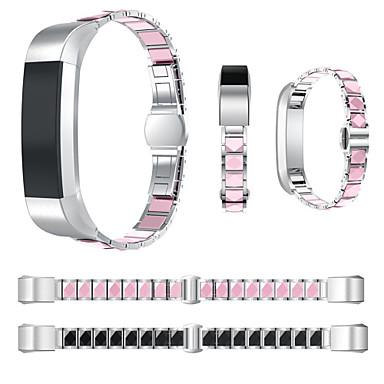 voordelige Mobiele telefoon-accessoires-Horlogeband voor Fitbit Alta HR / Fitbit Alta Fitbit Sportband Roestvrij staal / Keramiek Polsband