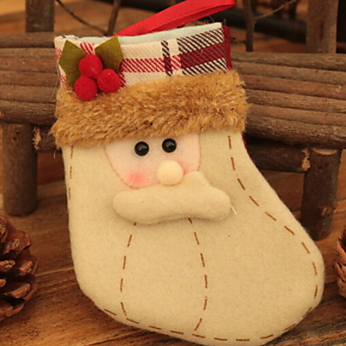 جوارب عيد الميلاد عطلة البوليستر مربع حداثة زينة عيد الميلاد