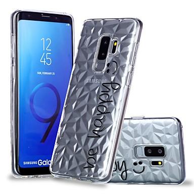 غطاء من أجل Samsung Galaxy S9 / S9 Plus / S8 Plus شفاف / نموذج غطاء خلفي جملة / كلمة ناعم TPU