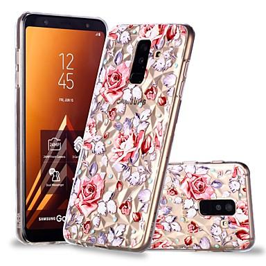 غطاء من أجل Samsung Galaxy A6 (2018) / A6+ (2018) / A8 2018 شفاف / نموذج غطاء خلفي زهور ناعم TPU