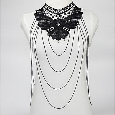 نسائي مجوهرات الجسم 48+5 cm سلسلة الجسم / سلسلة البطن أسود عبارة / سيدات / قوطي دانتيل / سبيكة مجوهرات من أجل مناسب للحفلات 9.0*6.0*0.5 cm الصيف