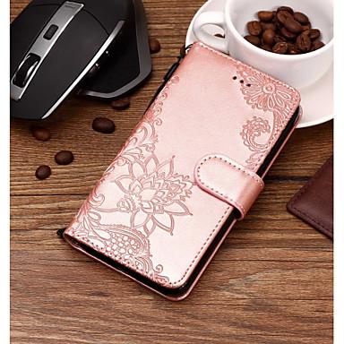 رخيصةأون LG أغطية / كفرات-غطاء من أجل LG LG V35 / LG V30 / LG Q7 محفظة / حامل البطاقات / مع حامل غطاء كامل للجسم الطباعة الدانتيل قاسي جلد PU