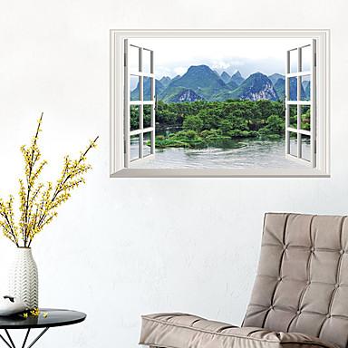 لواصق حائط مزخرفة - لواصق حائط الطائرة مناظر طبيعية غرفة الجلوس / غرفة النوم / دورة المياه / قابل اعادة الوضع
