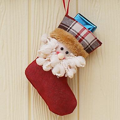 جوارب عطلة نسيج القطن مربع حداثة زينة عيد الميلاد