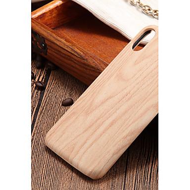 Недорогие Кейсы для iPhone 7 Plus-Кейс для Назначение Apple iPhone X / iPhone 8 Pluss / iPhone 8 Ультратонкий Кейс на заднюю панель Имитация дерева Твердый ПК