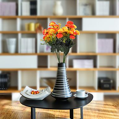 زهور اصطناعية 1 فرع كلاسيكي أنيق الحديث قرنفل أزهار الطاولة