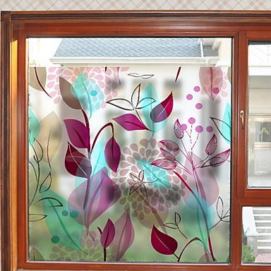 فيلم نافذة وملصقات زخرفة العادي هندسي / وردة PVC ملصق النافذة