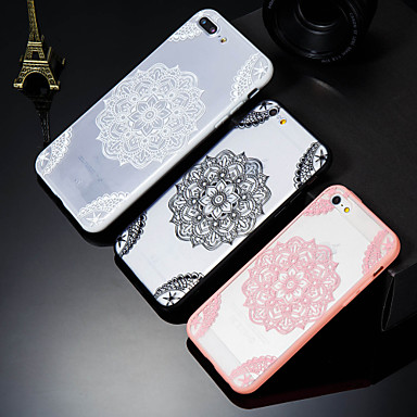 Недорогие Кейсы для iPhone X-Кейс для Назначение Apple iPhone X / iPhone 8 Pluss / iPhone 8 С узором Кейс на заднюю панель Мандала / Цветы Твердый ПК