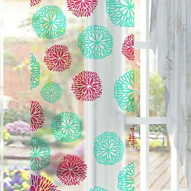 فيلم نافذة وملصقات زخرفة نمط عتيق / منقوشة طباعة PVC ملصق النافذة